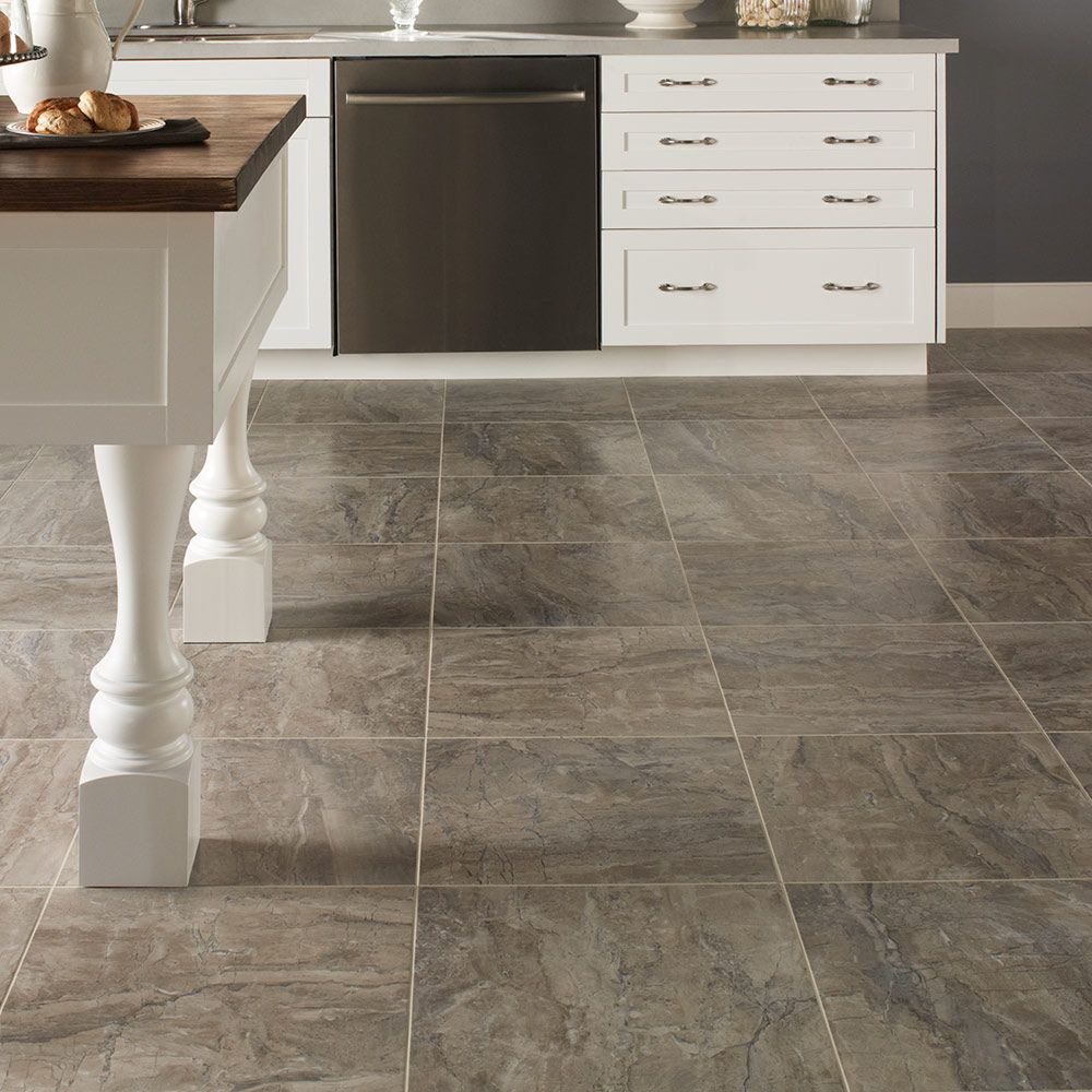 Luxury Vinyl Tile Flooring. Looks like tile, soft like
