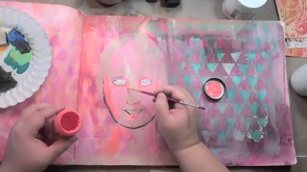 Art Journaling Fast Forward: Ava Face Stencil