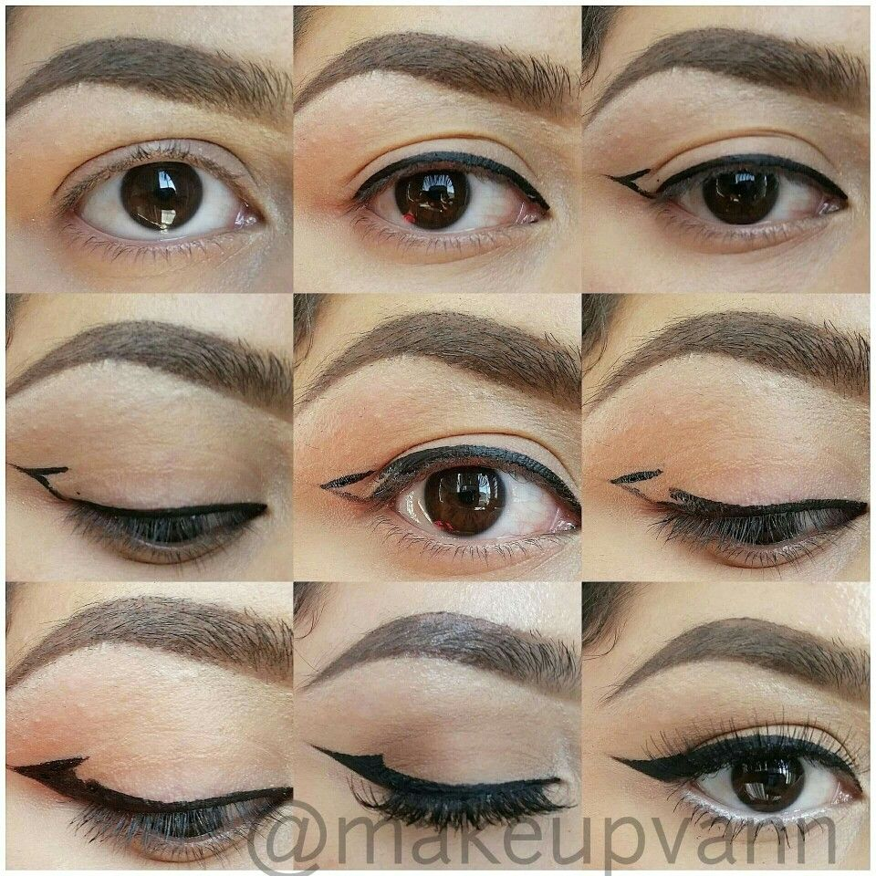 The Perfect Winged Liner For Hooded Eyes Hooded Eye Makeup Cat Eye Makeup Eyeliner For Hooded Eyes