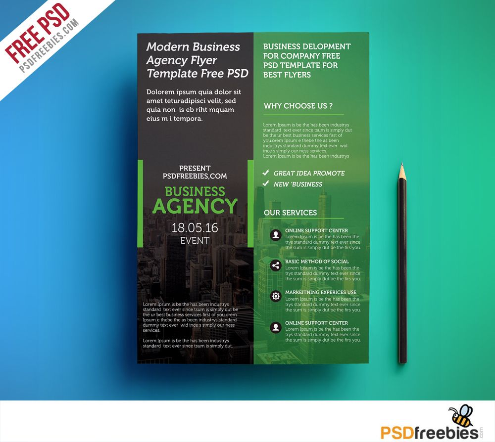 Modern business agency flyer template free psd flyer template download modern business agency flyer template free psd this corporate business agency flyer is suitable cheaphphosting Images