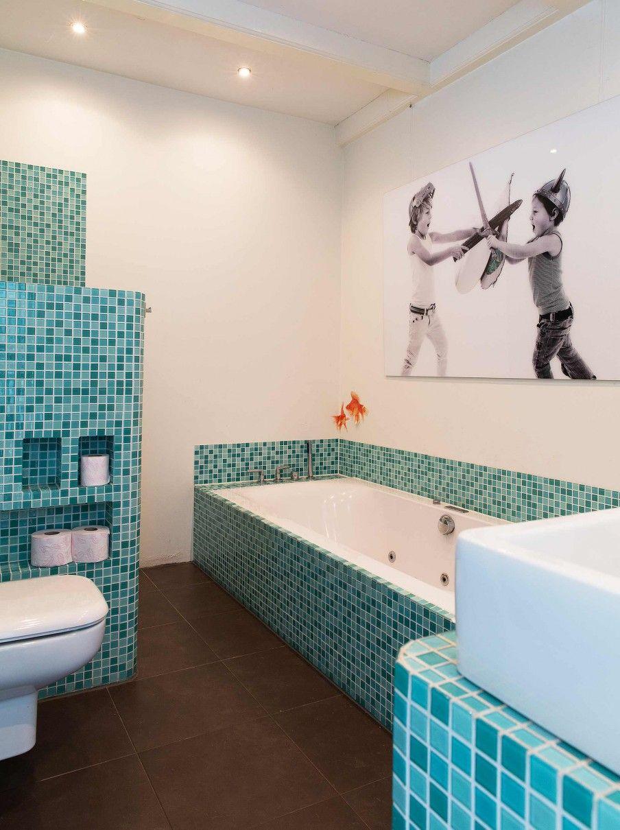 9-badkamer-blauw-mozaiek | STHY - Badkamer | Pinterest
