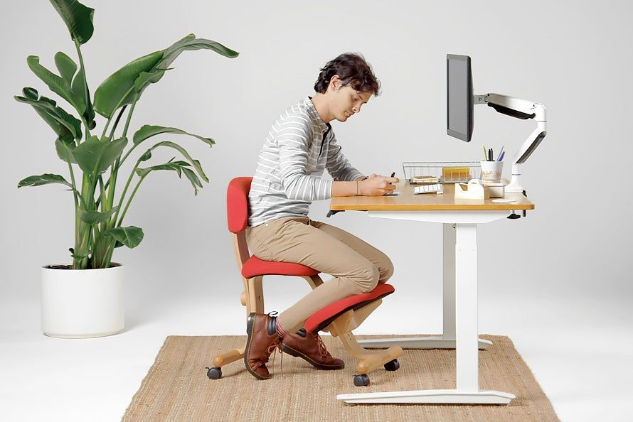Balans kneeling chair without back adjustable ergonomic