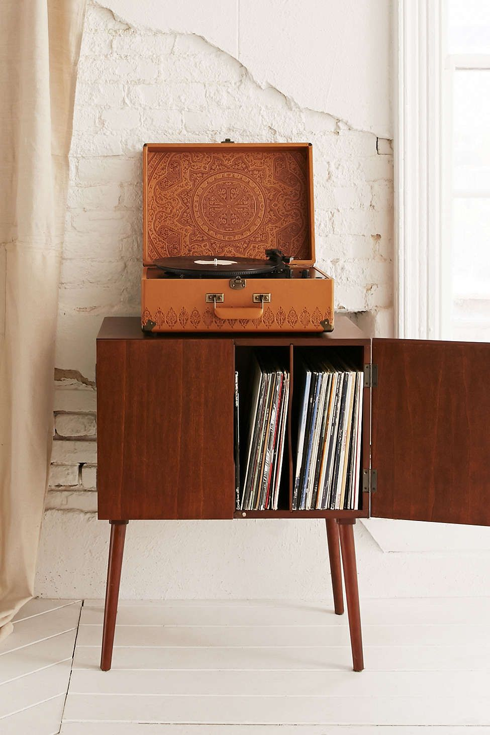 Assembly Home Mid-Century Vinyl Record Media Console ...