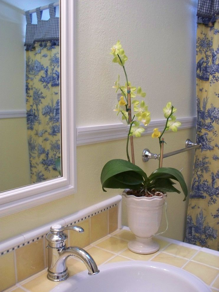 French Country Bathrooms Bathroom Farmhouse with Blue and
