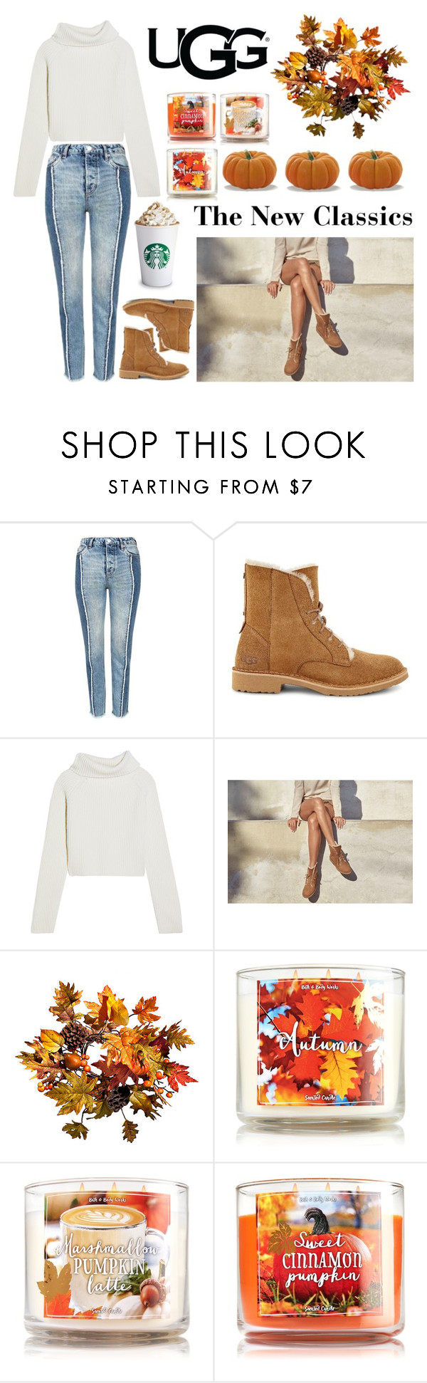 """The New Classics With UGG: Contest Entry"" by vaydamarie ❤ liked on Polyvore featuring Topshop, UGG, Haider Ackermann, Improvements, ugg and falltrend"
