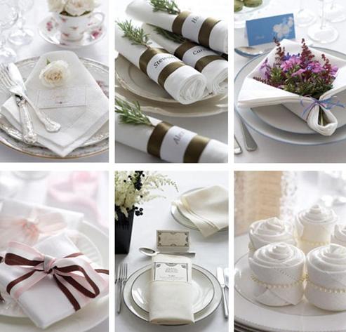 folding napkins | Wedding Details: Folded Napkin Table Decor #foldingnapkins