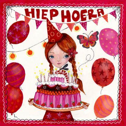 jarig taart Verjaardagskaarten   Jarig Taart Ballonnen Cartita Design  jarig taart