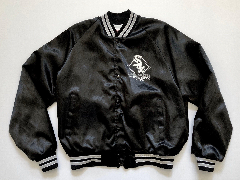 Vintage 90s Chicago White Sox Locker Line Satin Jacket Sz L Etsy Satin Jackets Vintage Sportswear Jackets [ 2250 x 3000 Pixel ]