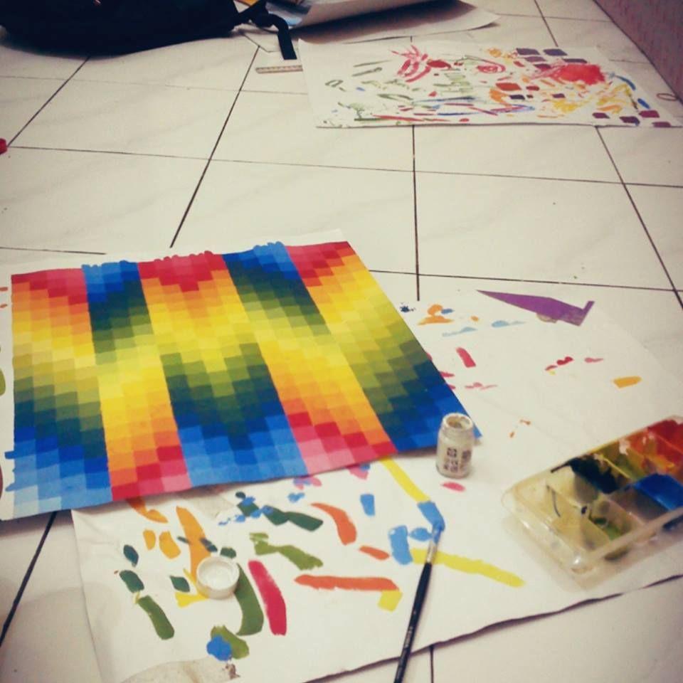 Cara Membuat Gradasi Warna Dengan Crayon  authorSTREAM