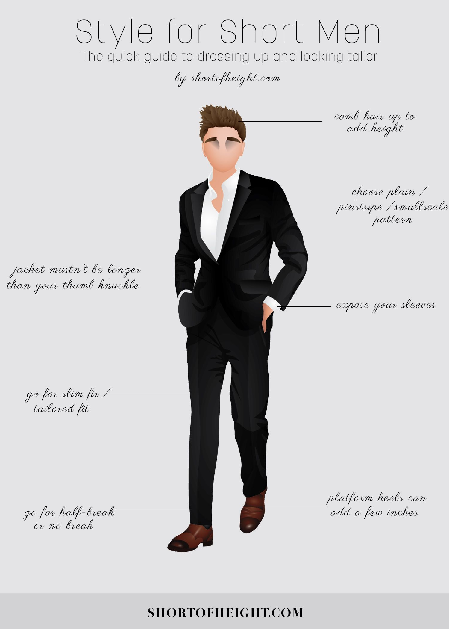 Here s a style for short men infographic to help you be more stylish