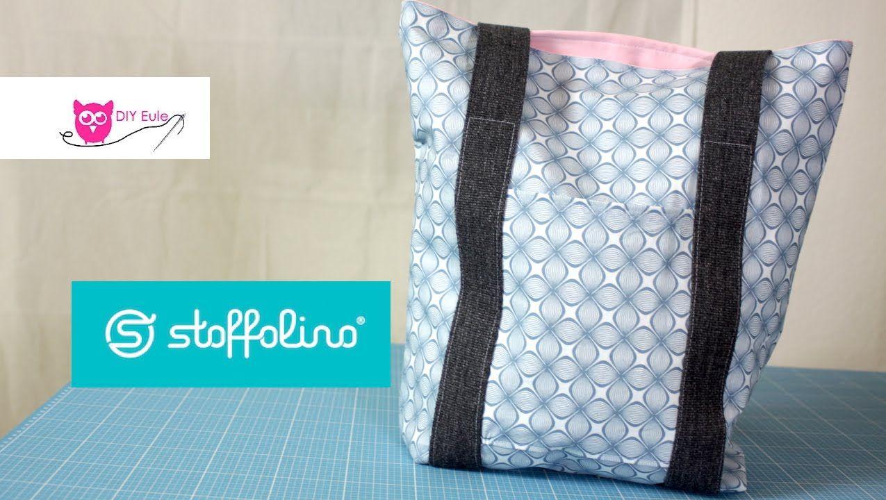 Tasche mit Gurtband nähen DIY Eule & Stoffolino.de (mit
