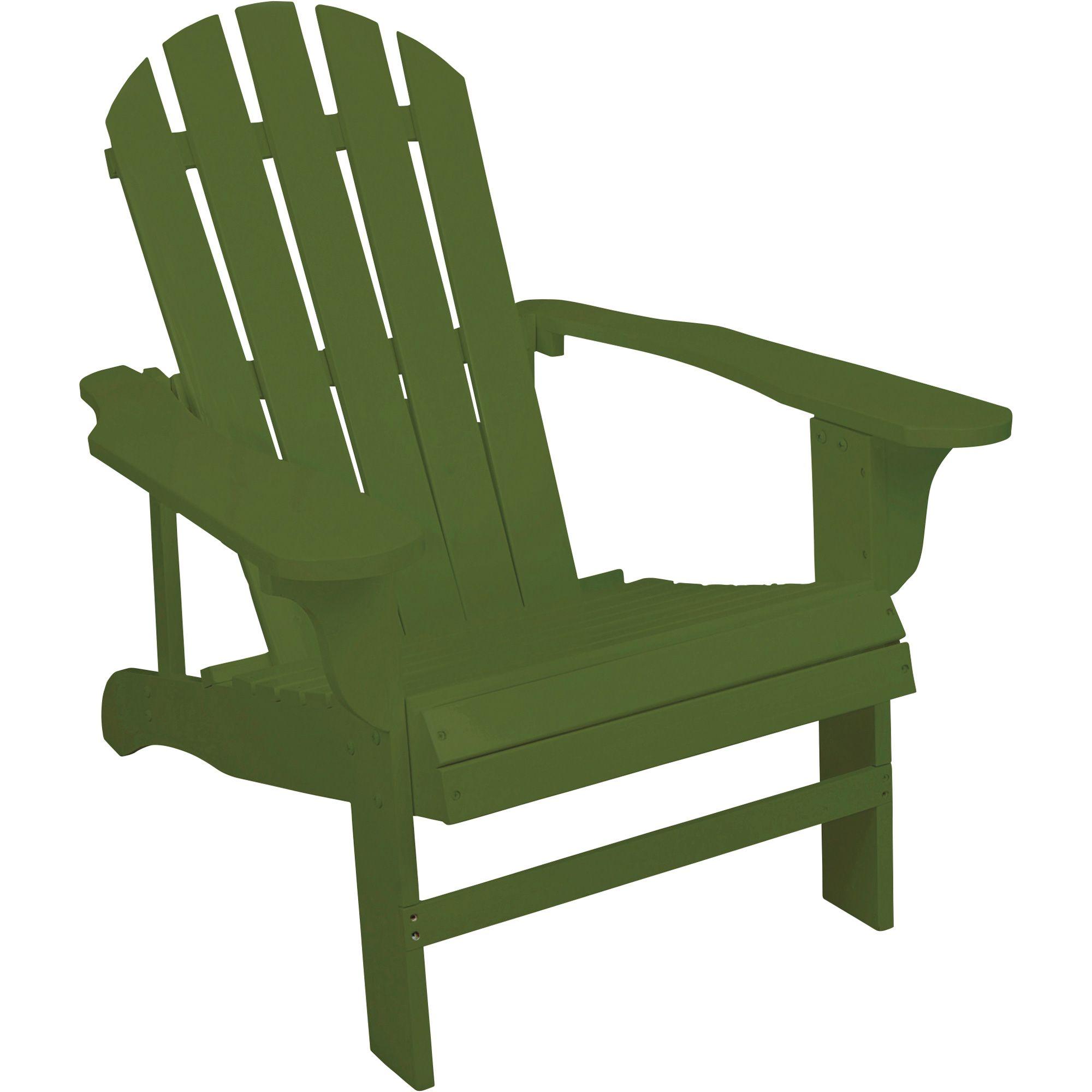 Classic sage painted wood adirondack chair model wood