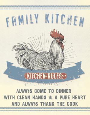 Family Kitchen Rules - Art Print #kitchenrules