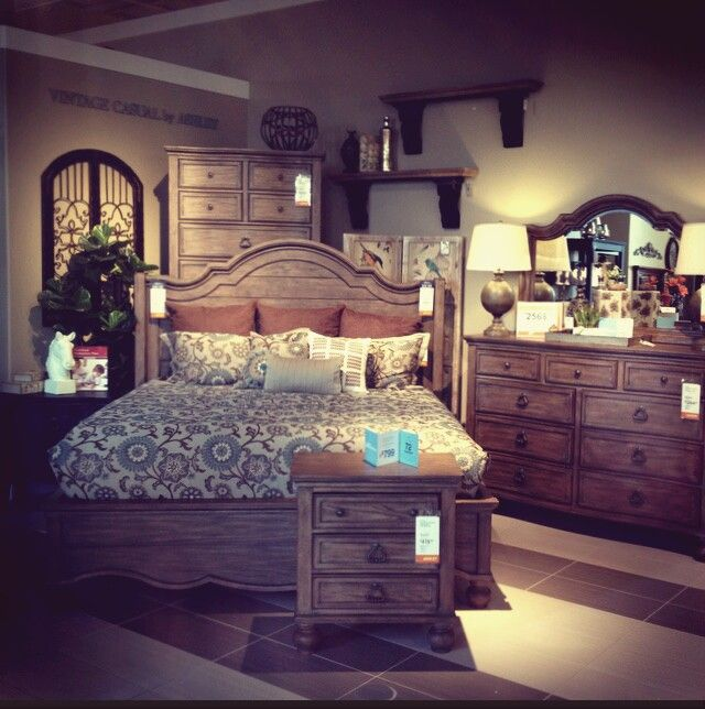 Tanshire bedroom group I decorated at the Ashley Homestore For
