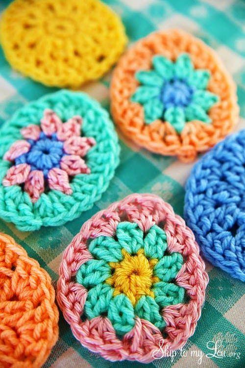 Crochet Easter Egg Applique (tangled happy) | Círculos, Tutoriales y ...