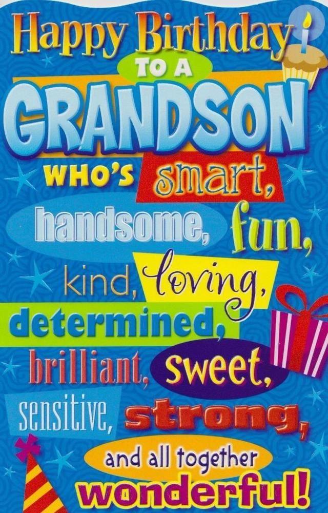 Birthday Greeting Card Grandson Humorous Birthday Greetings And
