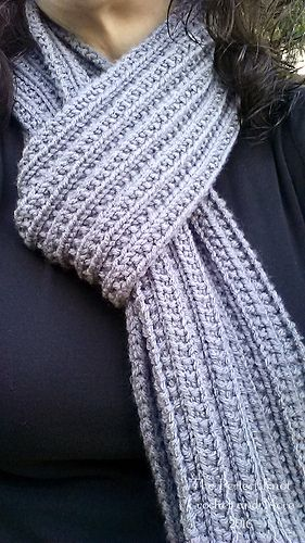 Ravelry: Ridges and Ribs Scarf pattern by The Perfect Knot ...