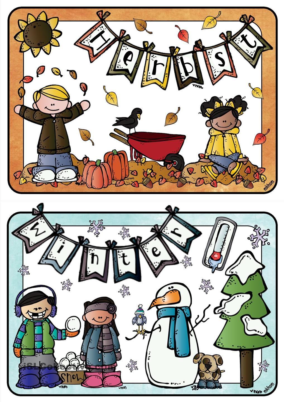 Jahreszeiten _ Bildkarten groß | Education | Pinterest ...