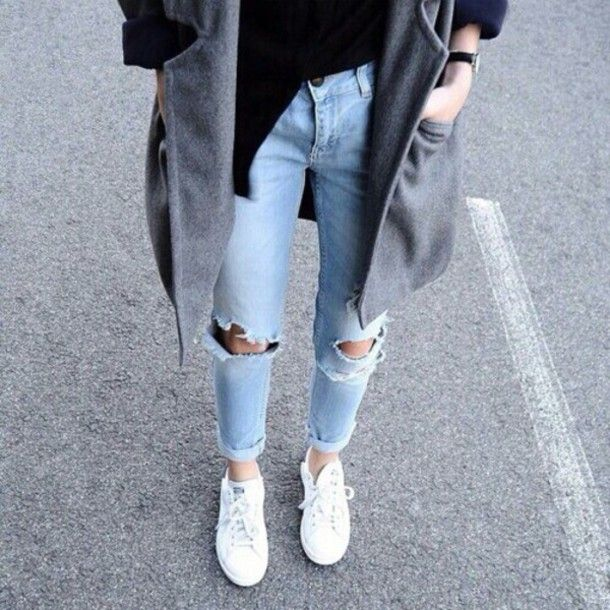 black and denim outfits tumblr - Google Search | fashion inspo ...