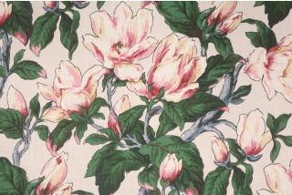 Waverly Asheville Printed Cotton Drapery Fabric in Lake $6.95 per yard