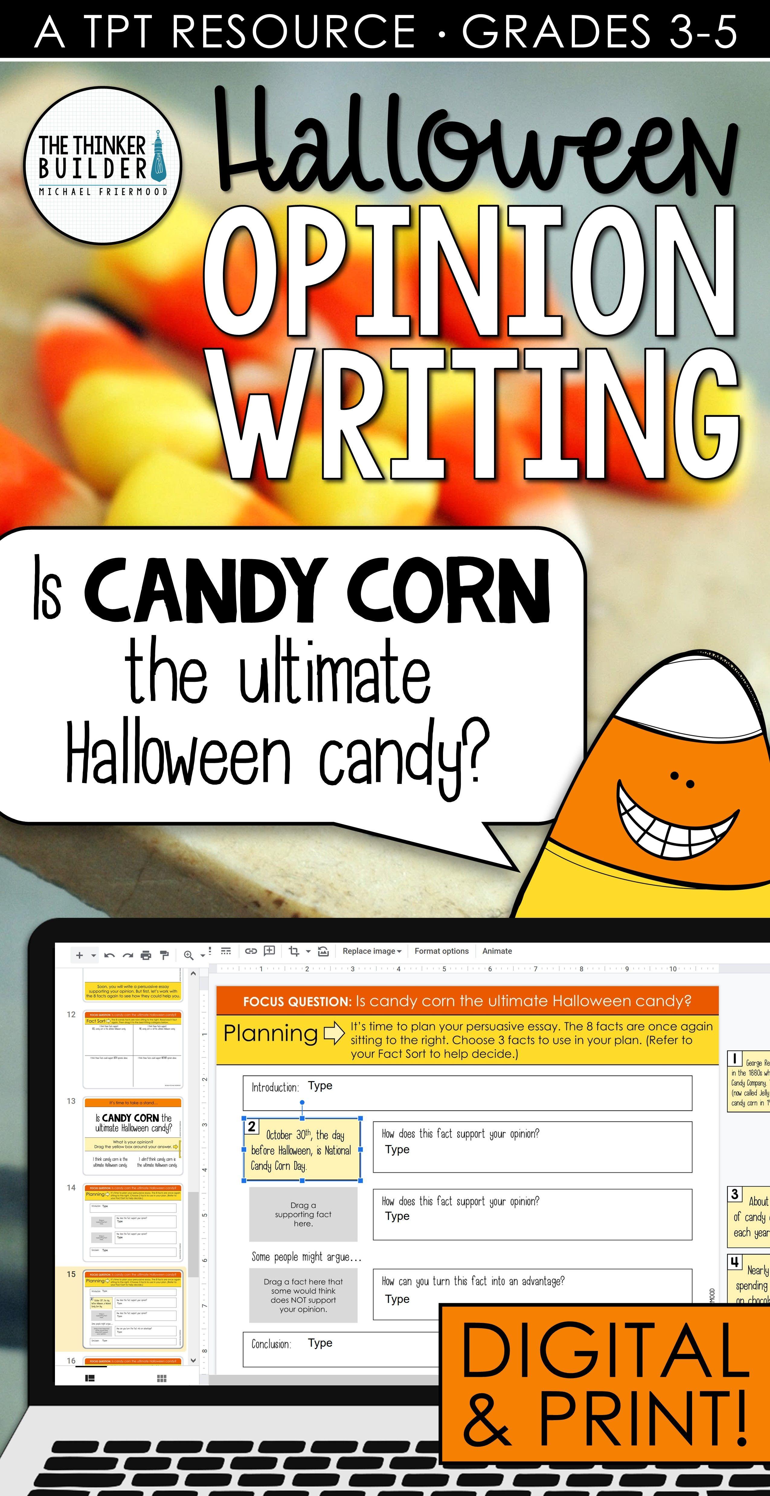 Halloween 2020 Opinion Halloween Opinion Writing in 2020 | Opinion writing, Opinion