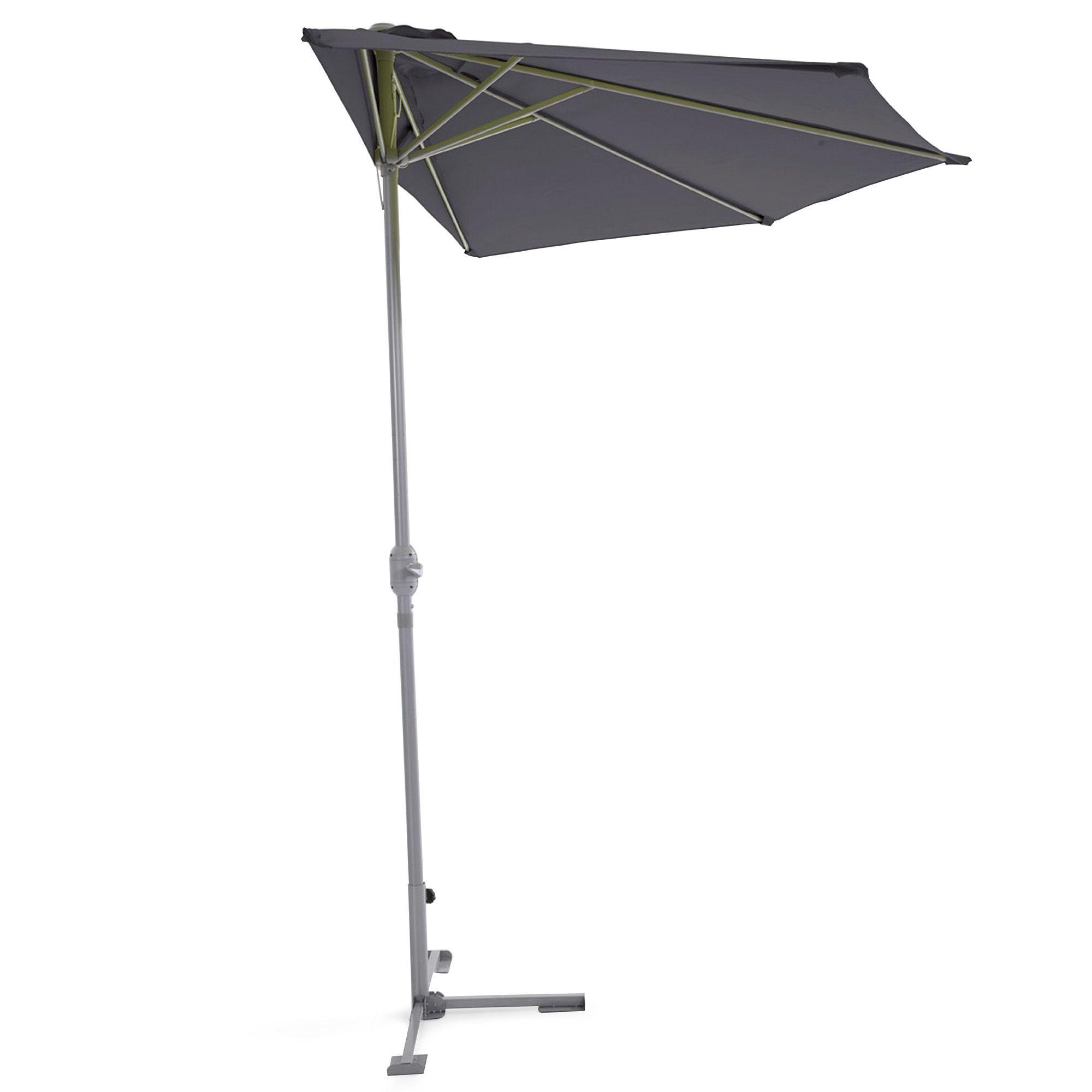 demi parasol pour balcon gris carly parasols parasols et pergolas jardin par pi ce. Black Bedroom Furniture Sets. Home Design Ideas