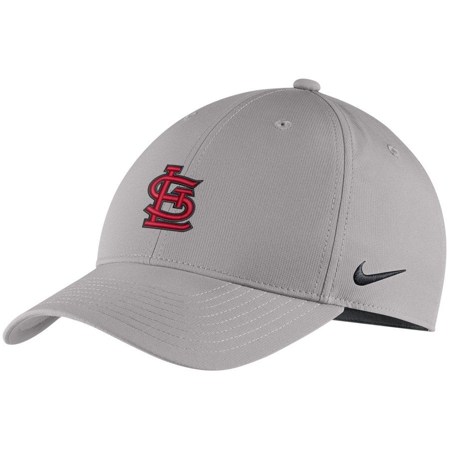 5229f31a649b2 Men s St. Louis Cardinals Nike Gray Legacy 91 Adjustable Hat