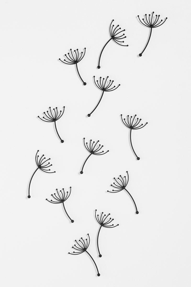 Dandelion wishes for wall from urbanoutfitters dot com for Wall drawings simple