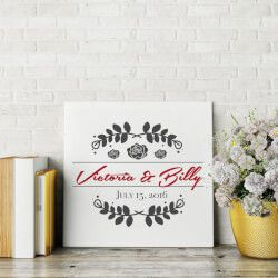 Personalized Marriage Canvas A Personalized Canvas Of The Couple S Name And Wedding Date Is A Mo Wedding Gifts Unique Wedding Gifts Traditional Wedding Gifts