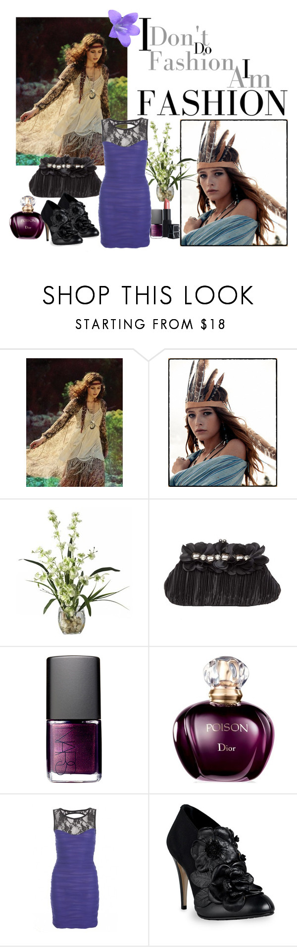 """""""I don't do Fashion, I AM Fashion."""" by im-a-daydreamer ❤ liked on Polyvore featuring Free People, Spell, NARS Cosmetics, Christian Dior and Valentino"""