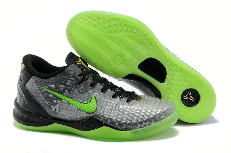2ac4f4cdf8f3 ... sale nike kobe 8 system ss christmas training shoes colorblack electric  green and cool grey metallic