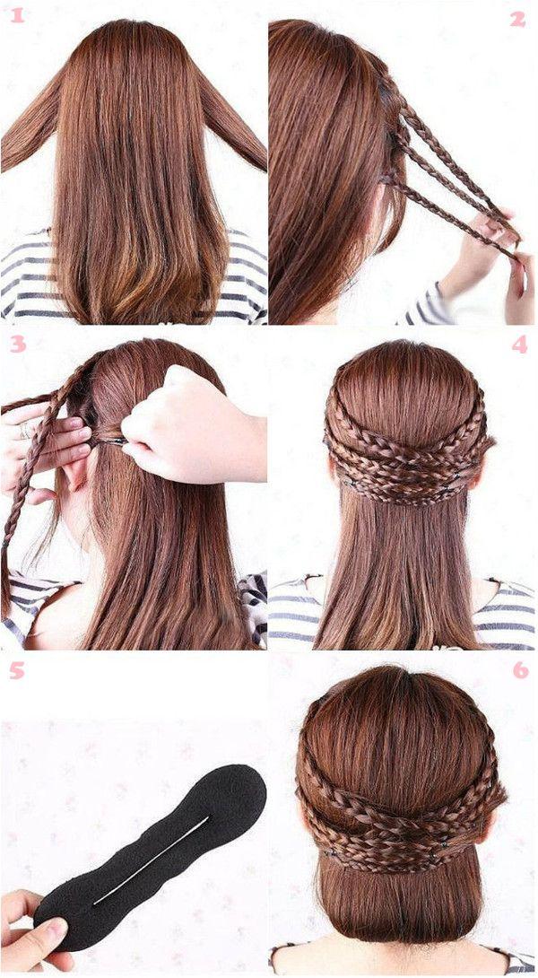 flechtfrisuren hair tutorial braids hairdos pinterest flechtfrisuren clips und frisur. Black Bedroom Furniture Sets. Home Design Ideas