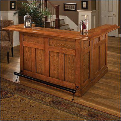 Classic Large Oak Wrap Around Home Bar 62576axoak Bars For