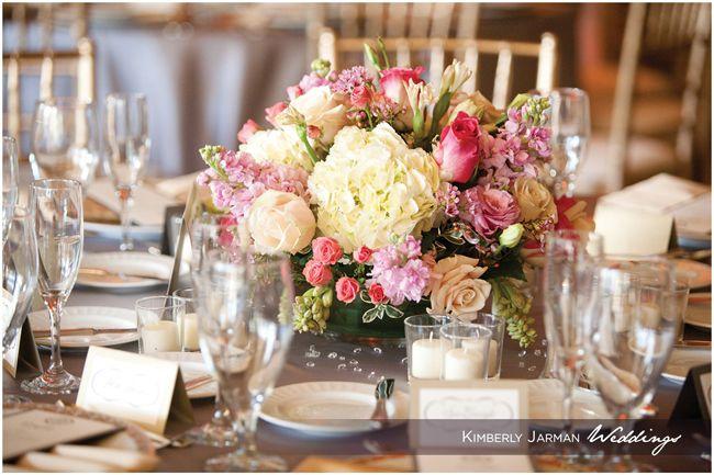 AZ Biltmore wedding.  Beautiful centerpiece and table setting