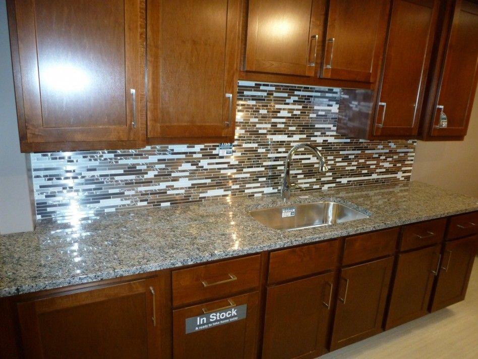 Metal Tile Backsplash Ideas kitchen:astonishing fancy kitchen backsplash ideas with brown wood