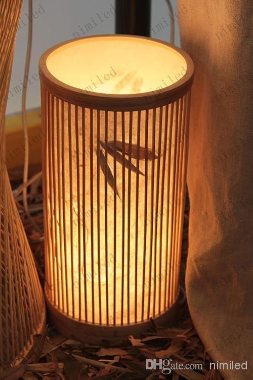 Nimi358 Original Design Nature Bamboo Small Rain Lamps Living Room