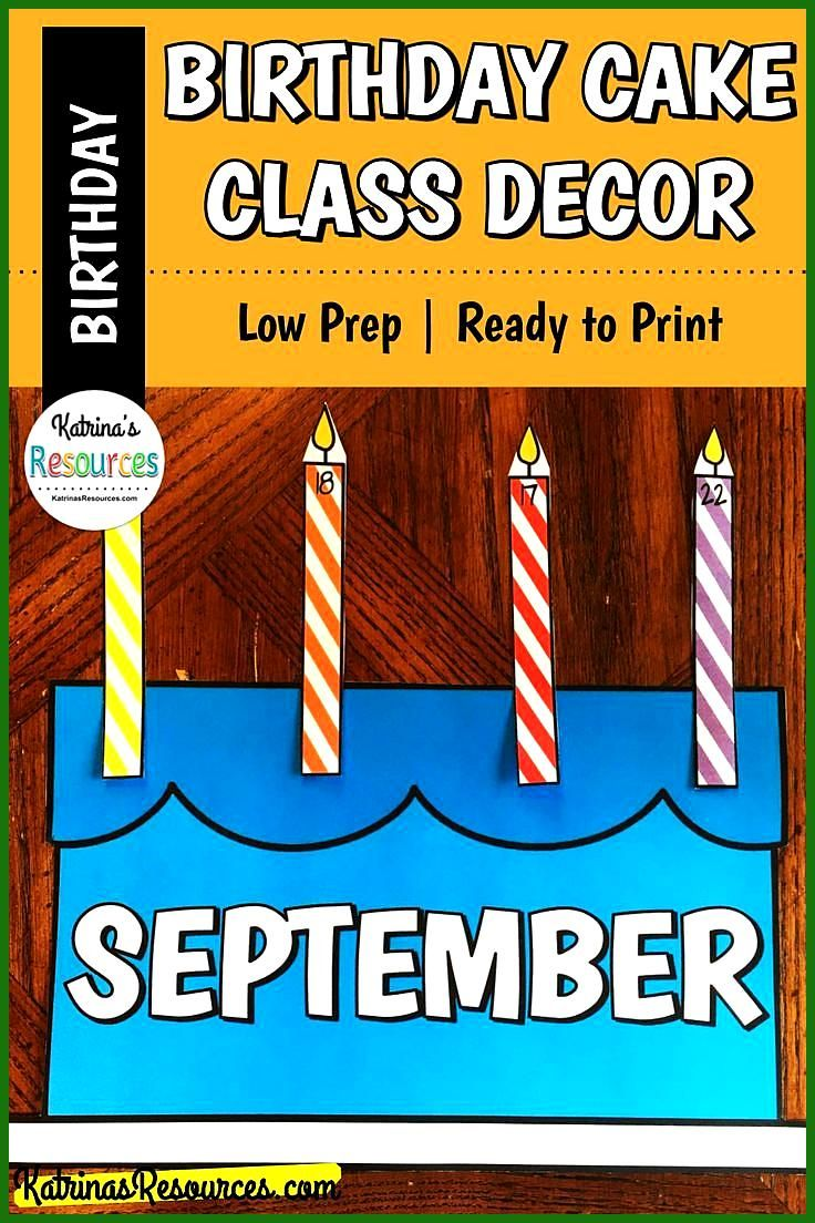 Birthday Cake and Candles Classroom Decor for Student Birthdays Do you want to keep track of your s