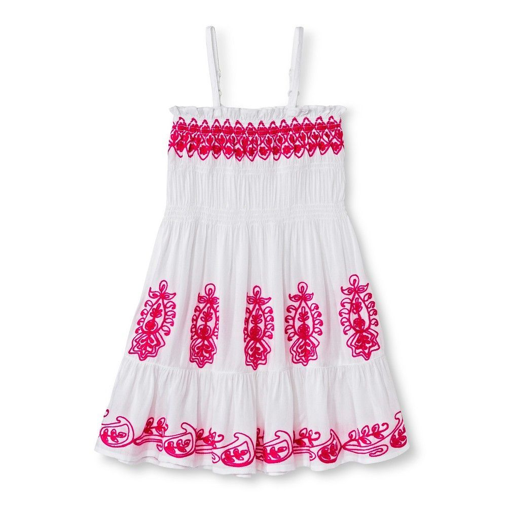 Uknit toddler girls embroidered dress pink products pinterest