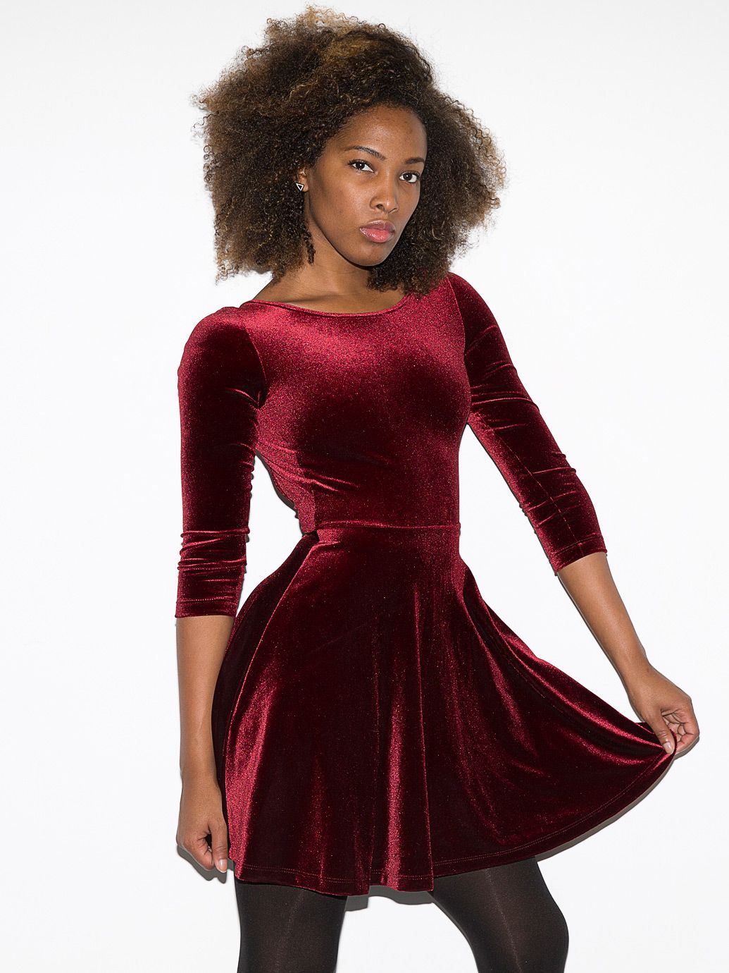Stretch Velvet Skater Dress | Threads-thatturn-heads | Pinterest ...