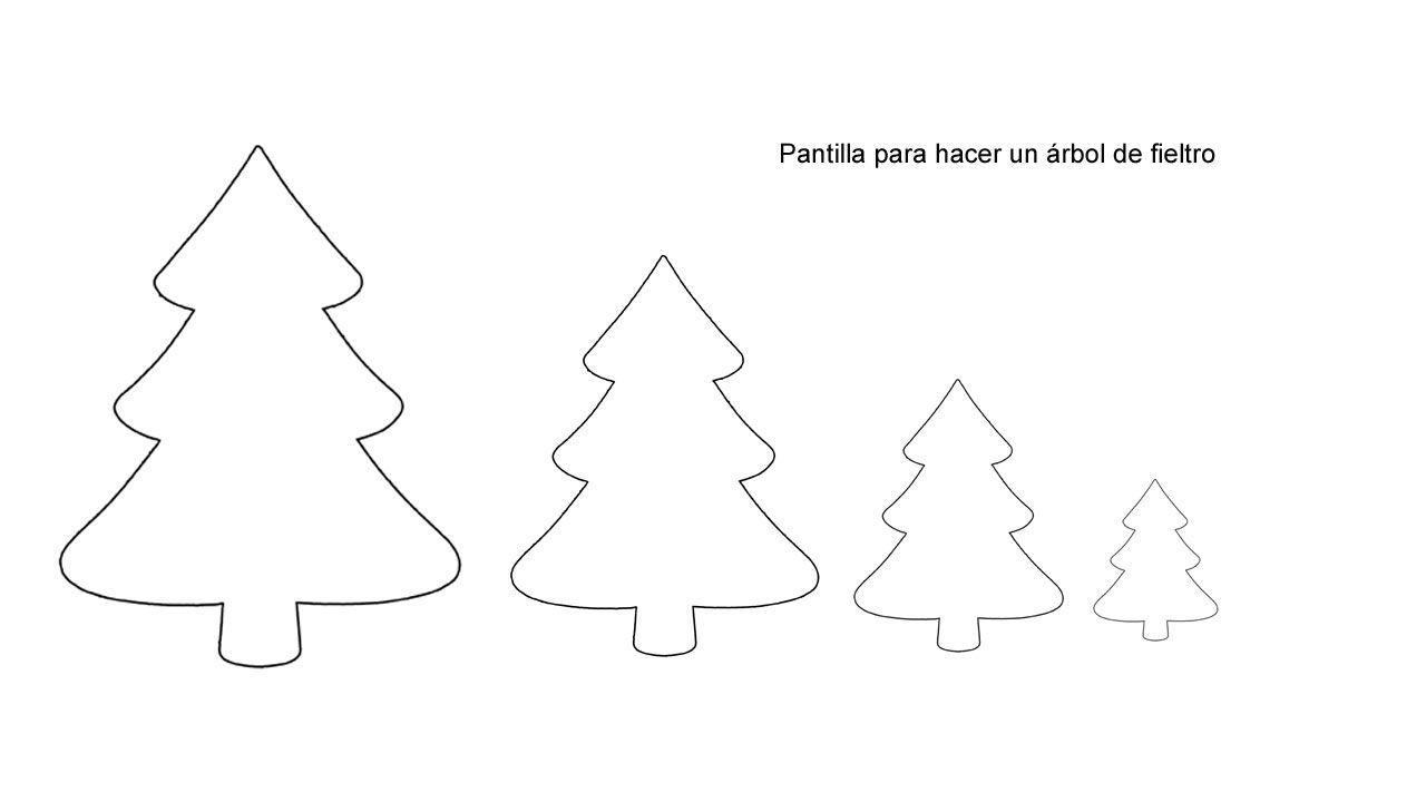 Hacer un árbol de Navidad de fieltro - Plantilla para el contorno ...