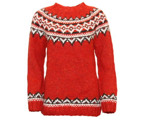 Brynja Icelandic Wool hand knitted Jumper Traditional Pattern ...