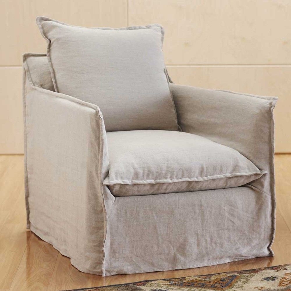 picture slipcovered slipcover beige linen cushion oak slipcovers dining sofa single solid seat chairs htm