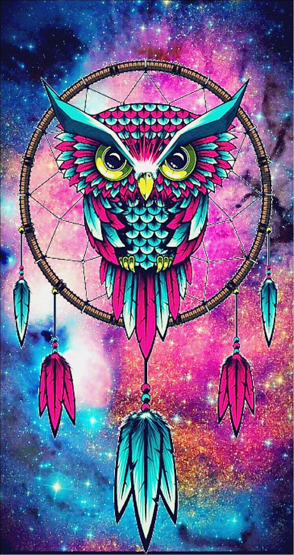 Dream Weaver Owl Psychedelic Dreamcatcher Wallpaper Owl Wallpaper Owl Dream Catcher