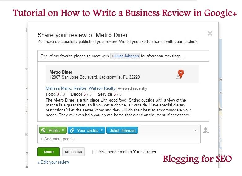 How To Write A Business Review In Google Plus Business Reviews Writing Business