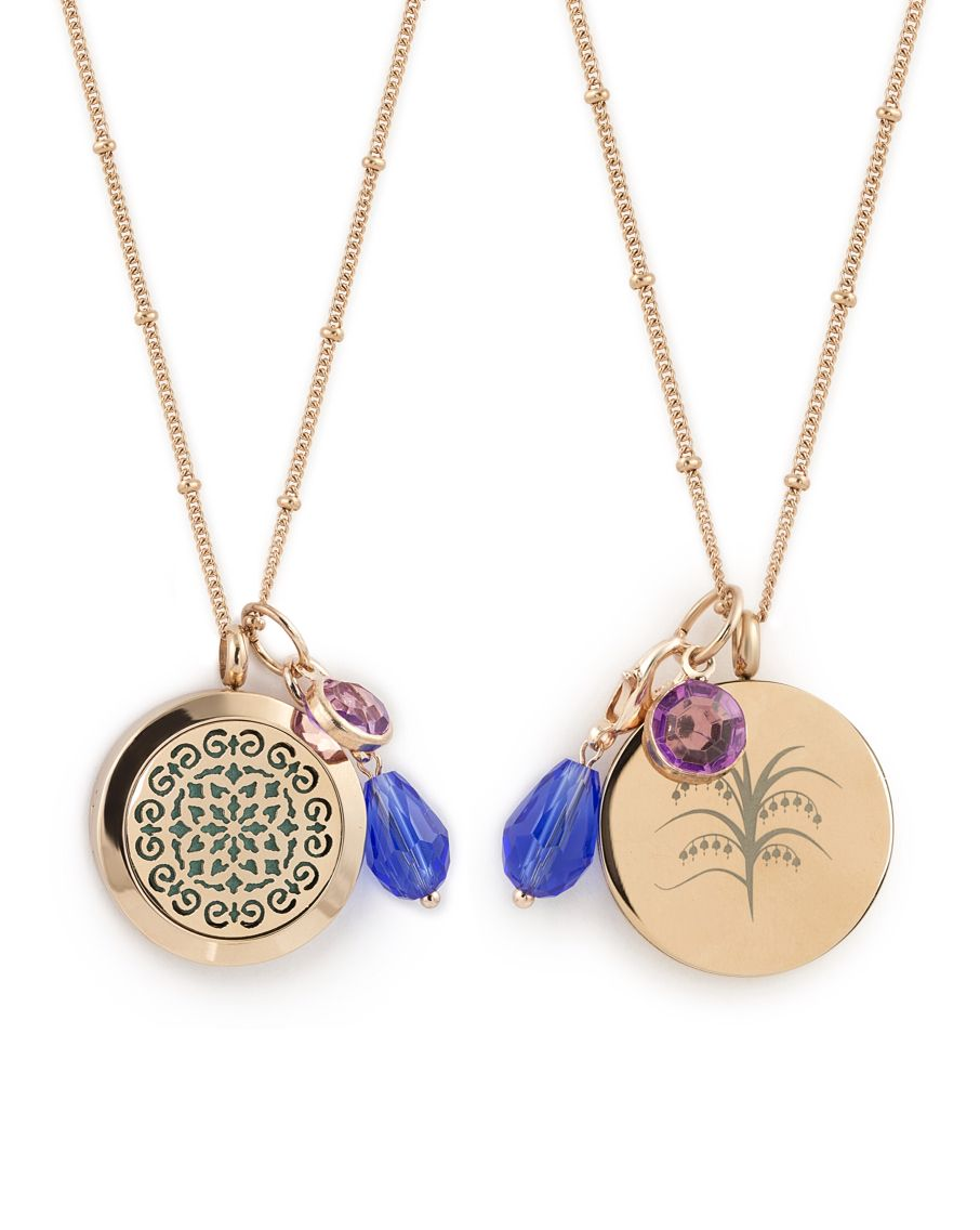 Aromaluxe London Essential Oil Diffuser Necklace Rose Gold