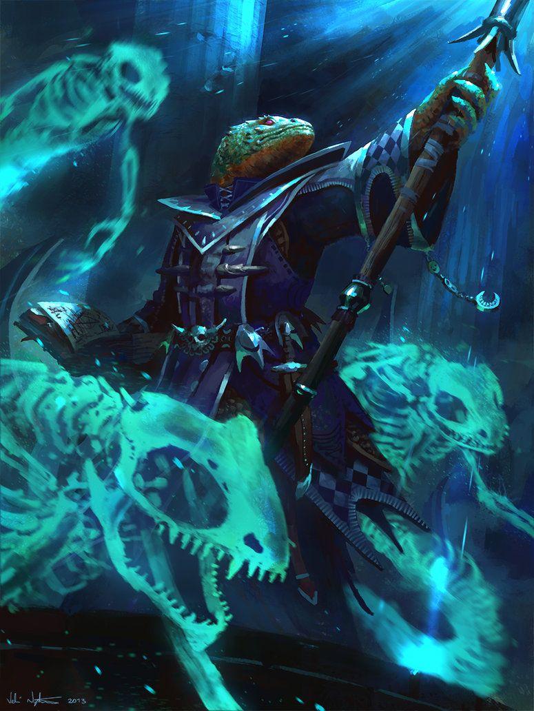 Lizardfolk Necromancer by Vablo on deviantART