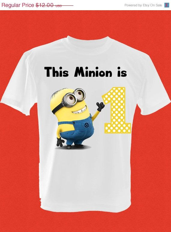 ON SALE Childrens Despicable Me Birthday T Shirt On Etsy 995