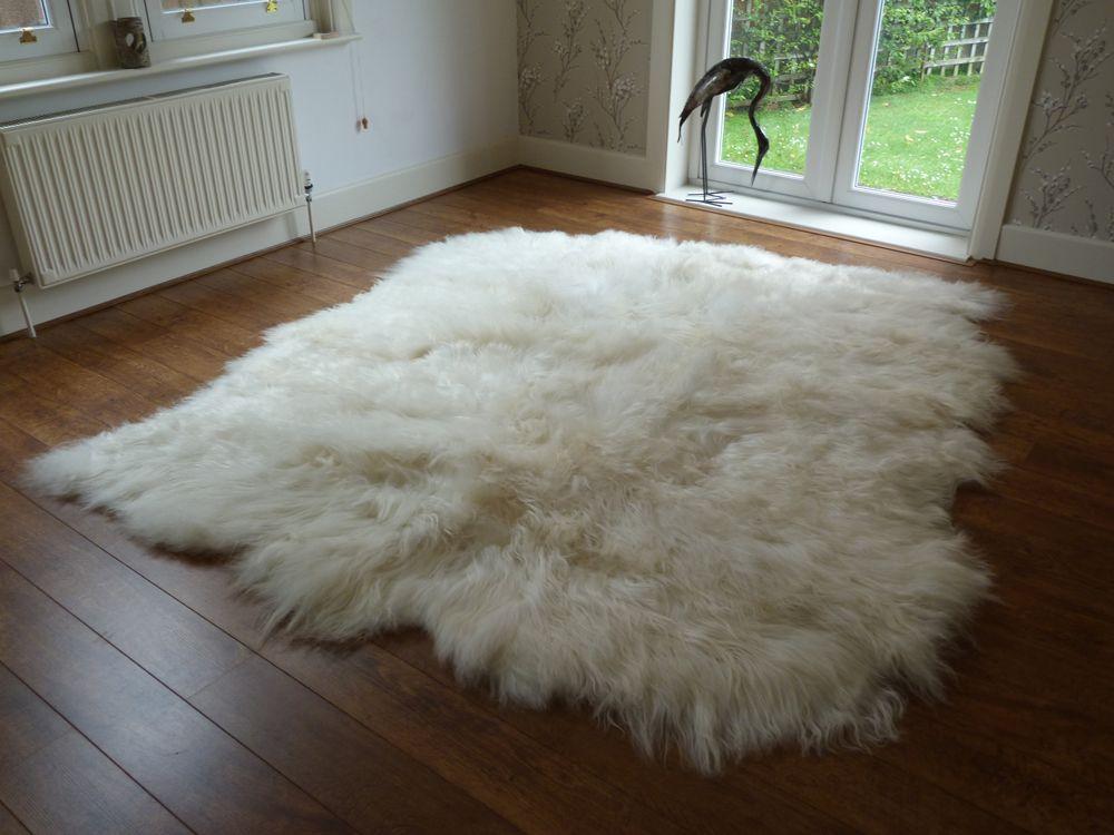 Icelandic Sheepskin Rug 8 Skin   Sheepskin rug, Large sheepskin ...