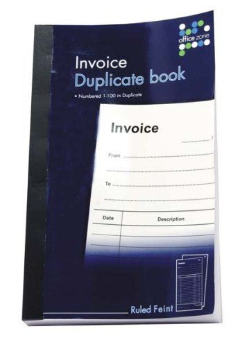 Invoice Duplicate Book Ruled Feint 1-100 Invoices in Duplicate by - book invoice