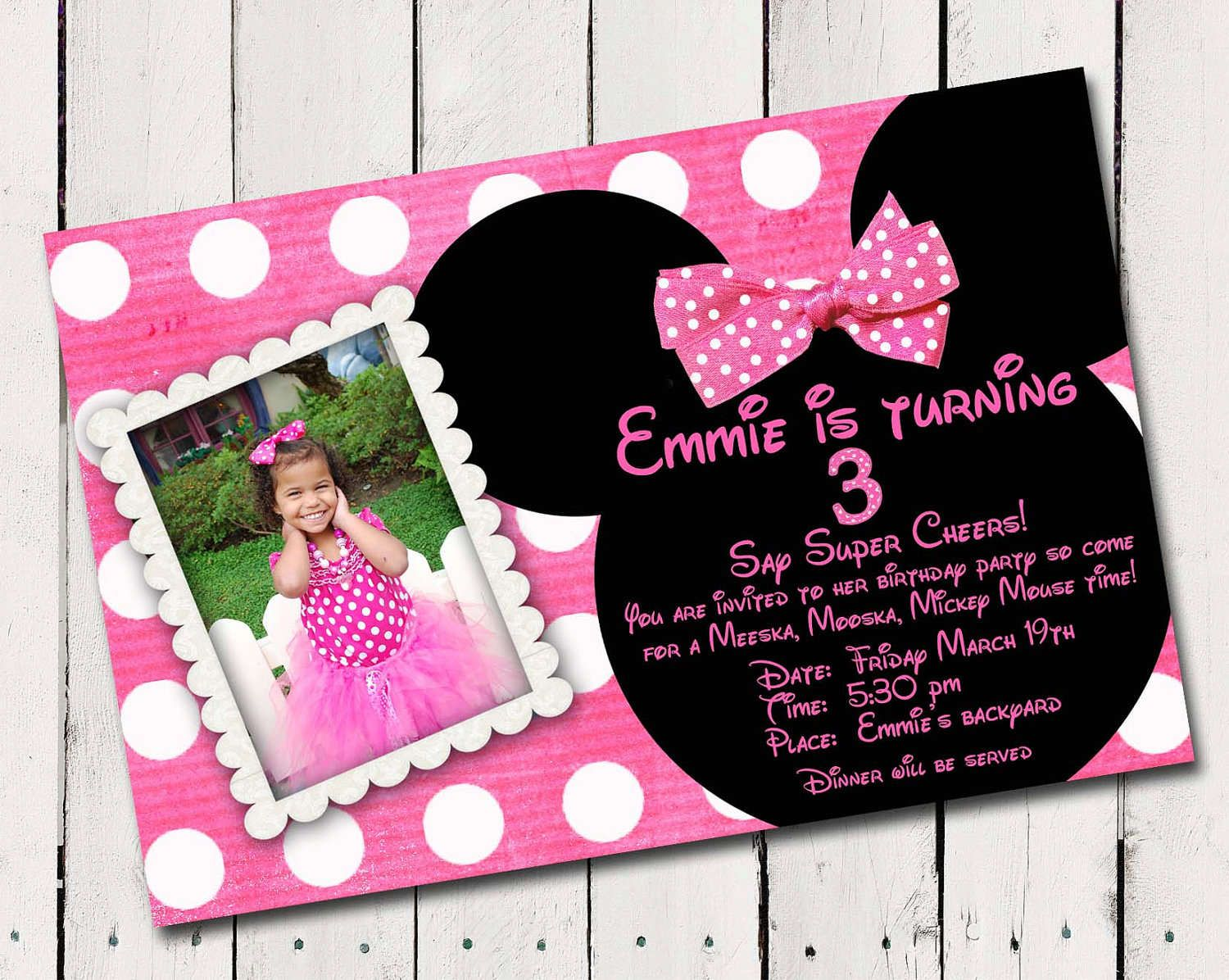 Minnie Mouse Free Invitation Templates